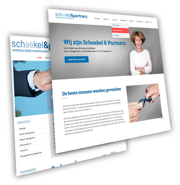 Redesign bestaande website Schaekel & Partners | Webdesign & Development | de Walserij | on- & offline grafische vormgeving