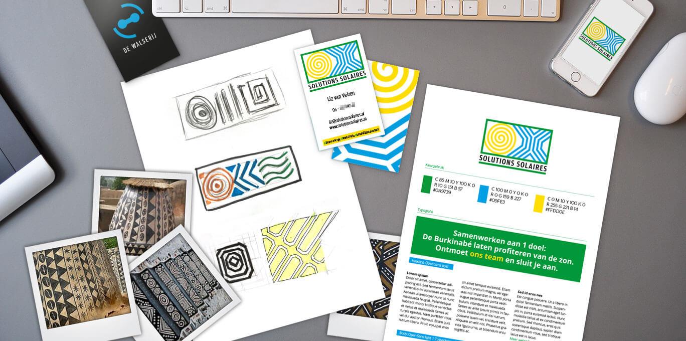 Ontwikkeling huisstijl Solution Solaires | Portfolio | On- & offline grafische vormgeving | de Walserij