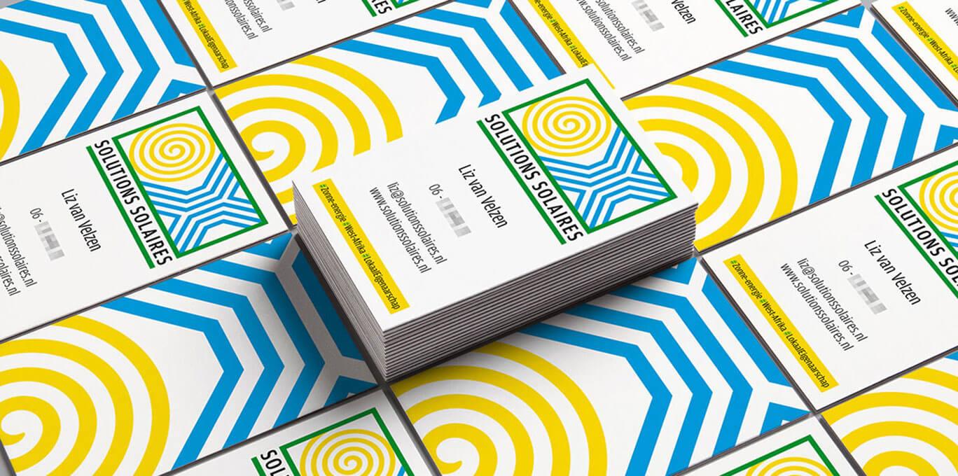 Visitekaartjes Solution Solaires | Portfolio | On- & offline grafische vormgeving | de Walserij